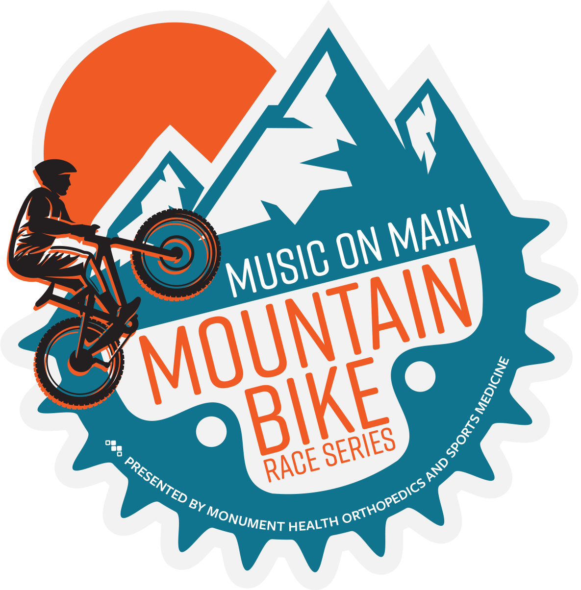Music on main. Mountain bike race series. presented by monument health orthopedics and sports medicine